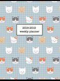 2018-2019 Weekly Planner: Cute Cat 18-Month Planner -- July 2018 - Dec 2019 Weekly View -- To-Do Lists + Much More
