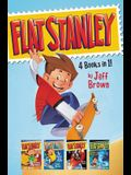 Flat Stanley 4 Books in 1!: Flat Stanley, His Original Adventure; Stanley, Flat Again!; Stanley in Space; Stanley and the Magic Lamp