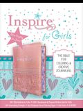 Inspire Bible for Girls NLT (Leatherlike, Pink): The Bible for Coloring & Creative Journaling