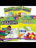 180 Days of Kindergarten Practice, 6-Book Set
