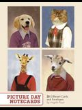 Picture Day Notecards (Gift for Animal Lovers, Funny Stationery, Notecards with Cute Animals)