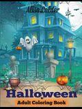 Halloween Coloring Book: Halloween Adult Coloring Book