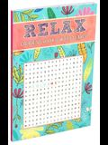 Relax Coloring Book & Word Search