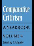 Comparative Criticism: Volume 4, the Language of the Arts