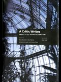 A Critic Writes: Selected Essays by Reyner Banham