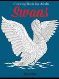 Swans Coloring Book: Relaxation Coloring Book for Adults, Teens, and Children