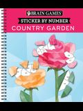 Brain Games - Sticker by Number: Country Garden (Geometric Stickers)