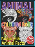 Animal Coloring Book: Animal Coloring Book For Kids. A Color, Discover, and Learn Coloring Book.