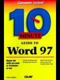 10 Minute Guide to Word 97
