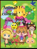 Animal coloring book for kids: Funny coloring book with friendly animals for kids