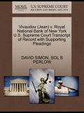 Vivaudou (Jean) V. Royal National Bank of New York U.S. Supreme Court Transcript of Record with Supporting Pleadings