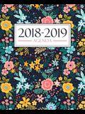 Agenda 2018-2019: 190 x 235 mm: Agenda 2018-2019 semana vista español: 160 g/m² Agenda semanal 12 meses: Estampado floral 3704