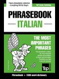 English-Italian phrasebook and 1500-word dictionary