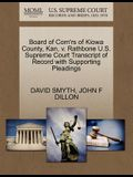Board of Com'rs of Kiowa County, Kan, V. Rathbone U.S. Supreme Court Transcript of Record with Supporting Pleadings