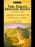 4 Classic American Novels: The Scarlet Letter/Adventures of Huckleberry Finn/The Red Badge of Courage/Billy Budd