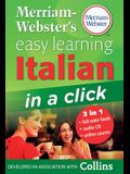 Merriam-Webster's Easy Learning Italian in a Click [With CD (Audio)]