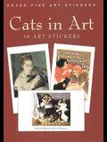 Cats in Art: 16 Art Stickers