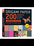 Origami Paper 200 Sheet Japanese Washi Patterns 6 3/4 17 CM: High-Quality Double Sided Origami Sheets with 12 Different Patterns (Instructions for 6 P