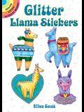 Glitter Llama Stickers