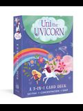 Uni the Unicorn: A 3-In-1 Card Deck: Card Games Include Go Fish, Concentration, and Snap