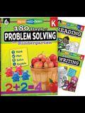 180 Days 3 Book Bundle - Reading, Writing & Problem Solving Grade K