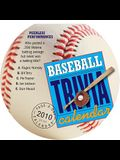 Baseball Trivia Diecut Calendar 2010