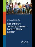 A Study Guide for Robert Bly's Driving to Town Late to Mail a Letter