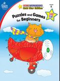 Puzzles and Games for Beginners, Grade K: Gold Star Edition
