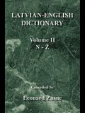 Latvian-English Dictionary: Volume II N-Z
