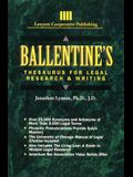 Ballentine's Thesaurus for Legal Research & Writing (Delmar Paralegal)