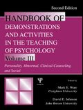 Handbook of Demonstrations and Activities in the Teaching of Psychology: Volume III: Personality, Abnormal, Clinical-Counseling, and Social