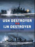 USN Destroyer Vs IJN Destroyer: The Pacific 1943