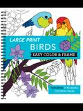 Large Print Easy Color & Frame - Birds (Adult Coloring Book)