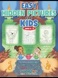 Easy Hidden Pictures for Kids Ages 3-5: A First Preschool Puzzle Book of Object Recognition (Preschool Kids Learn and Have Fun Too)