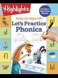 Write-On Wipe-Off Let's Practice Phonics