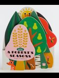 Bookscape Board Books: A Forest's Seasons: (colorful Children's Shaped Board Book, Forest Landscape Toddler Book)