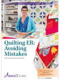 Quilting Er: Avoiding Mistakes