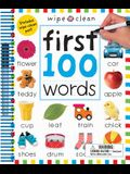 Wipe Clean: First 100 Words - Extended Edition: Includes Wipe-Clean Pen