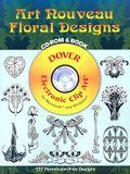 Art Nouveau Floral Designs [With CD-ROM]