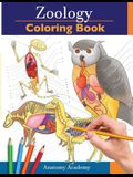 Zoology Coloring Book: Incredibly Detailed Self-Test Animal Anatomy Color workbook Perfect Gift for Veterinary Students and Animal Lovers
