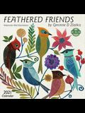 Feathered Friends 2021 Wall Calendar: Watercolor Bird Illustrations
