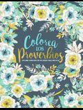 Colorea los Proverbios: Un libro cristiano de colorear para adultos: Un original libro religioso para colorear con 45 versículos de la Biblia