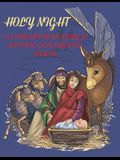 Holy Night, A Christmas Bible Coloring Book: Religious Christmas Coloring Book for Kids