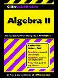CliffsQuickReview Algebra II
