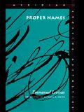 Proper Names (Meridian: Crossing Aesthetics)