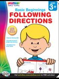 Following Directions, Grades Preschool - K (Basic Beginnings)