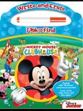 Disney - Mickey Mouse Clubhouse - Write-And-Erase Look and Find Wipe Clean Board [With Marker]