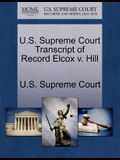 U.S. Supreme Court Transcript of Record Elcox V. Hill
