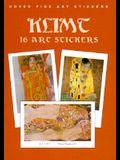 Klimt: 16 Art Stickers