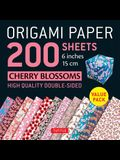 Origami Paper 200 Sheets Cherry Blossoms 6 (15 CM): Tuttle Origami Paper: High-Quality Double-Sided Origami Sheets with 12 Different Patterns (Instru